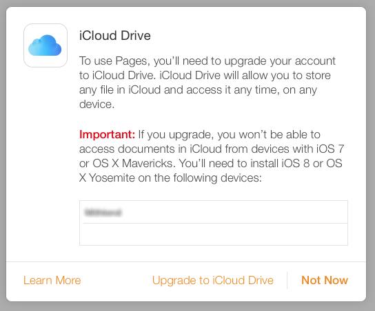 iCloud drive not optional
